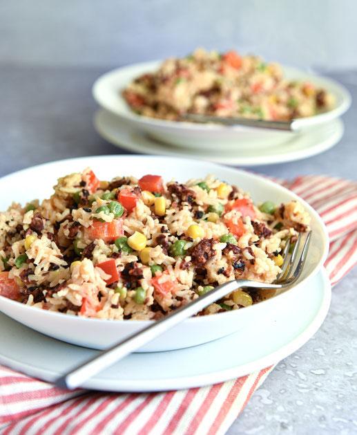 Konfetti Topf mit Reis, vegetarisch, vegan machbar, Thermomix