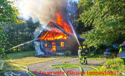 Feuerwehr, Blaulicht, Brand, Silo, Sooß, Stickstoff, BFKDO Baden