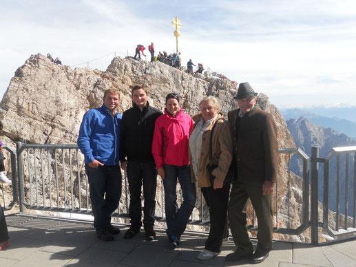 Familienausflug auf die Zugspitze