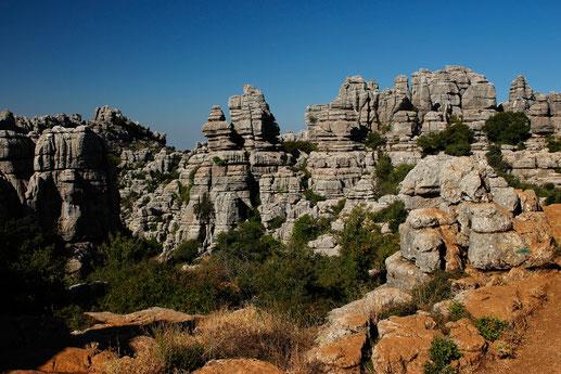Beautiful rocks at Torcal de Antequera
