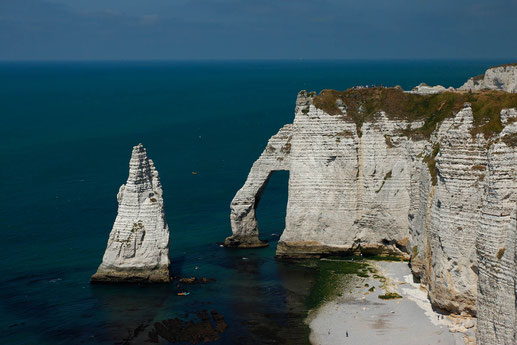 The chalk cliffs of Étretat