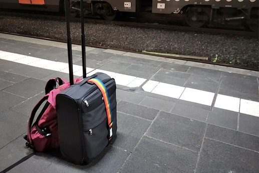 Carry-on luggage only, traveling around the world