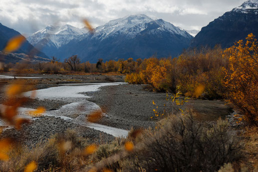 Shoshone River South Fork Wyoming, Herbst in den USA