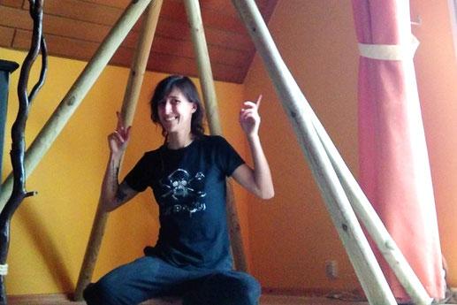 Tipi im Wohnzimmer, Tipi selbst bauen, DIY