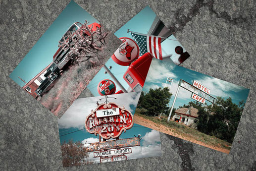 Postcards to print, Route 66 cards
