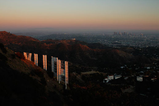 Hollywood Sign at sunset, best viewopoints for the Hollywood Sign