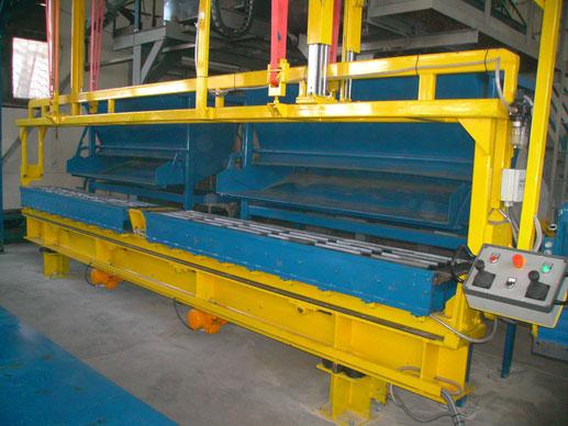 Tilt mould machine