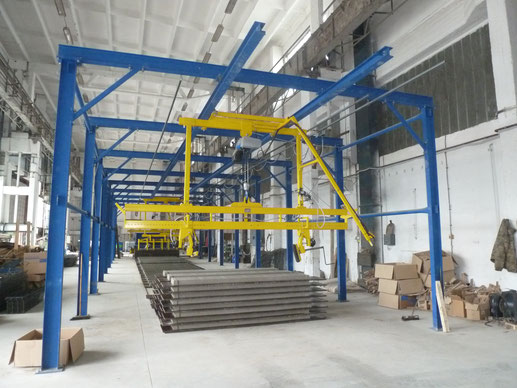 Machinery for pig slats