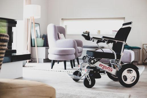 ergoflix Elektro-Rollstuhl Sodermanns verldung im auto