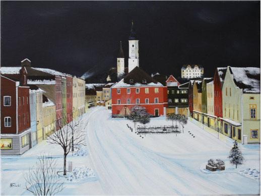 Nr. 81 Dorfen, Rathausplatz im Winter