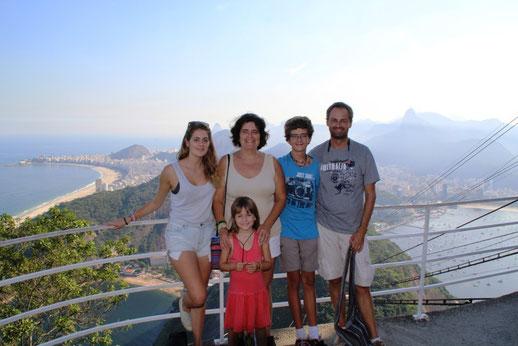 Vue sur Copacabana depuis le Pain de Sucre