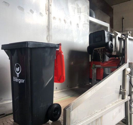 Speisereste-Tonnen Abholung Reinigung