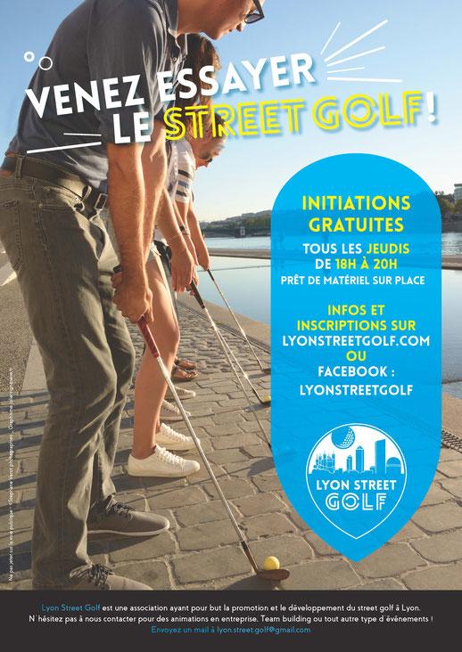 Affiche initiation Lyon street golf