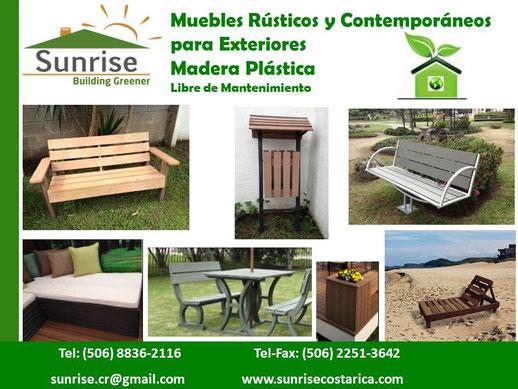 Mobiliario urbano y jard n en madera pl stica sunrise for Mobiliario jardin plastico