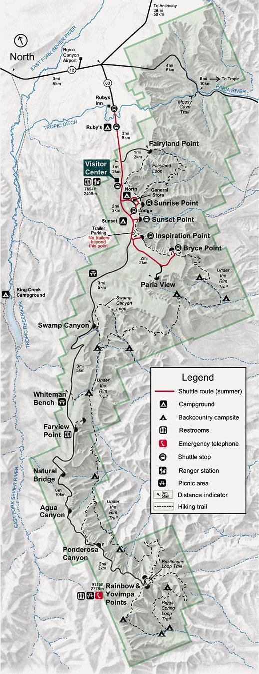 Parkplan Bryce Canyon, Peter Rehberg