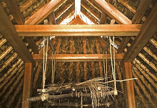 登呂遺跡、平地式住居(復元)の内部構造
