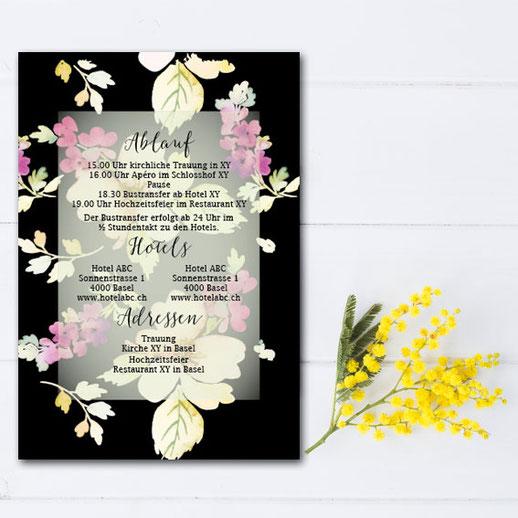 Moderne Hochzeitskarte Hochzeitskartenshop