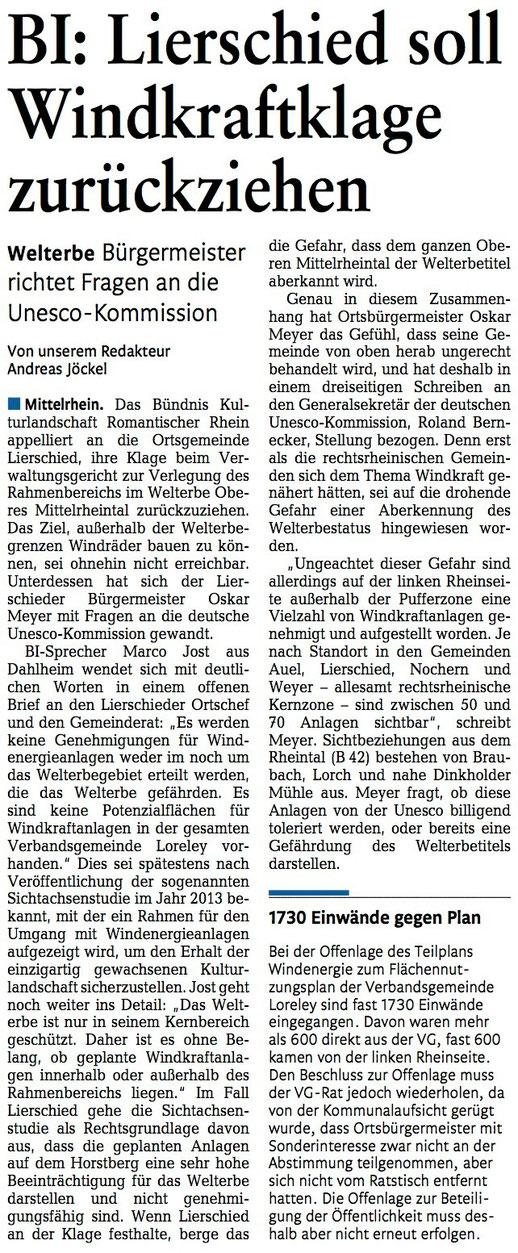 Rhein-Lahn-Zeitung v. 19.08.2015