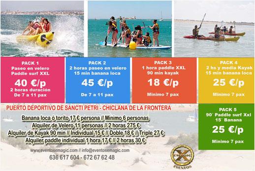 Ofertas para actividades en el agua Conil