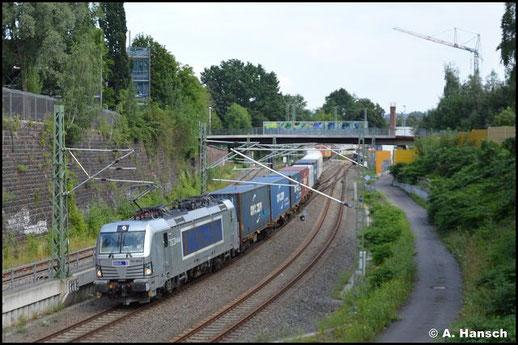 Am 24. Juli 2021 hat 383 405-8 mit ihrem Elbtalumleiter fast Chemnitz Hbf. erreicht
