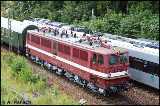 Die Lok ist äußerlich an ihre Dienstzeit bei der Deutschen Reichsbahn angelehnt