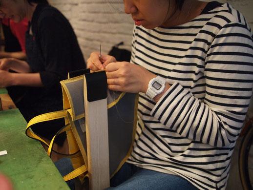 レザークラフト バッグ 手縫い