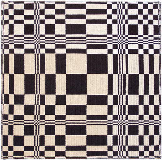Webtafeln und Musterplatten, Wandobjekt 65 x 65 cm
