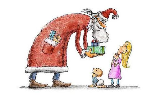 Kurze Weihnachtsgedichte: Der Weihnachtsmann