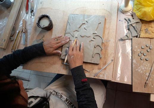Clase de ceramica  Malaga, Japón
