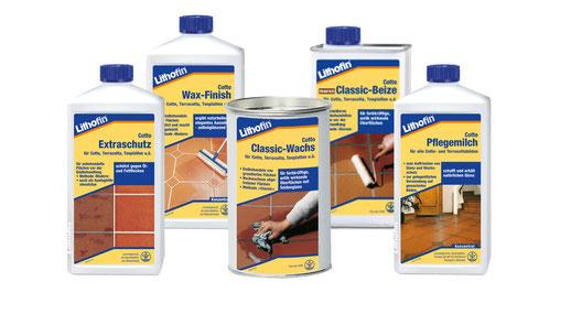 gamma prodotti di Lithofin COTTO per pavimenti in cotto