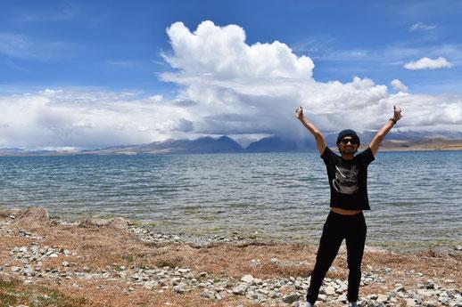 マナサロワール湖にて 一生分のカルマを落としてきました