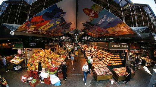 Рынок Бокерия на бульваре Рамблас
