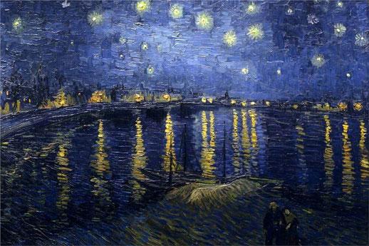 Звездная ночь над Роной - самые известные картины Ван Гога