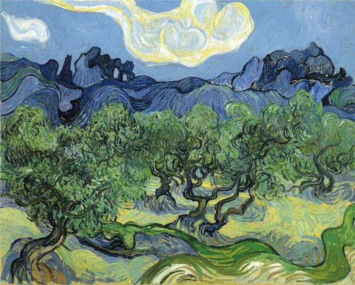 Пейзаж с оливами - самые известные картины Ван Гога