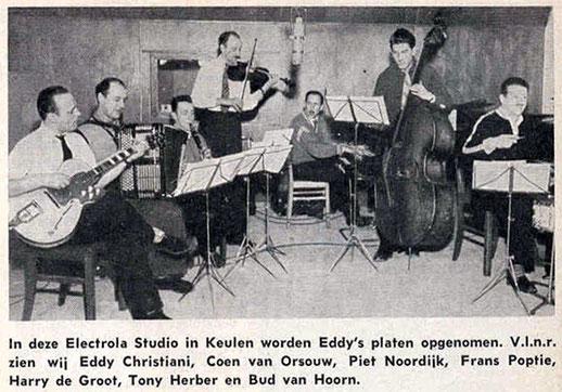 Uit Tuney Tunes juni 1954. Eddy Christian met Framus Billy Lorento gitaar