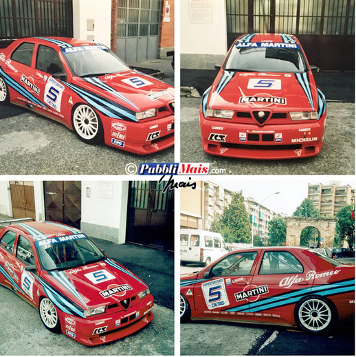 alfa romeo 155 gta gran turismo graphics sponsor sticker decal pubblimais