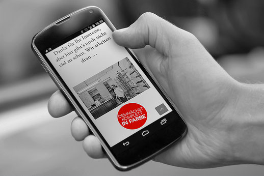 Responsive Webdesign auf einem Mobiltelefon
