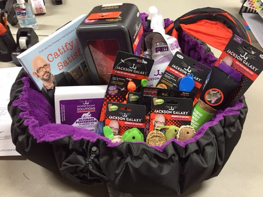 ITEM #29: JACKSON GALAXY KITTY GIFT BASKET (VALUE $225)