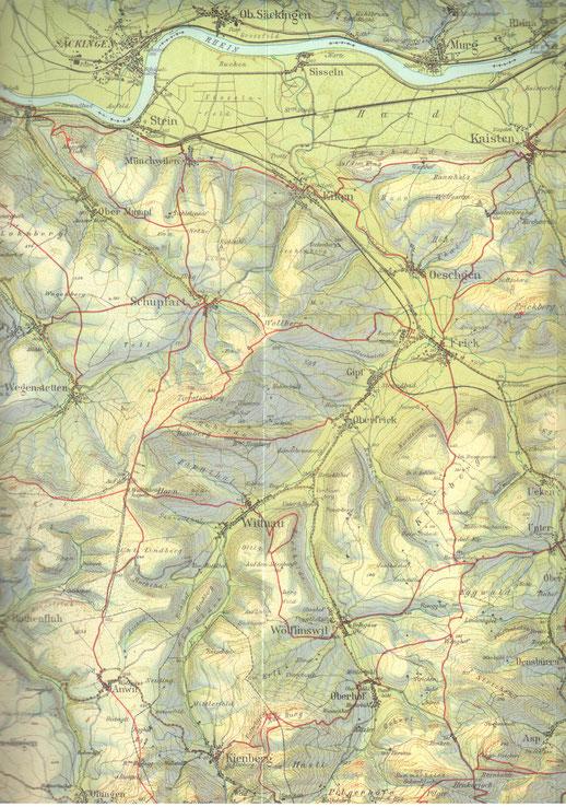 Ausschnitt aus der Karte des Verkehrsvereins