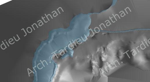 Vista 3d fondali Lago di Como (alto lario)