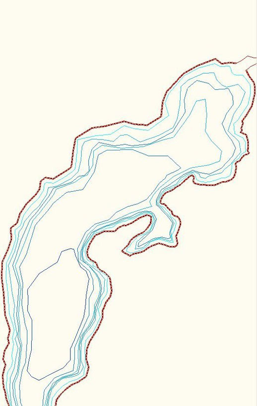 Curve di livello fondali Lago di Como (alto lario)