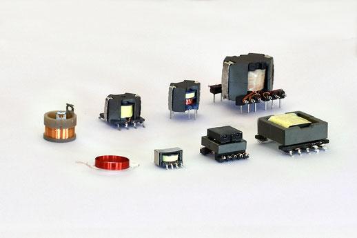 Ferrittransformatoren, Drosseln, Feindrahtspulen, Sonderspulen