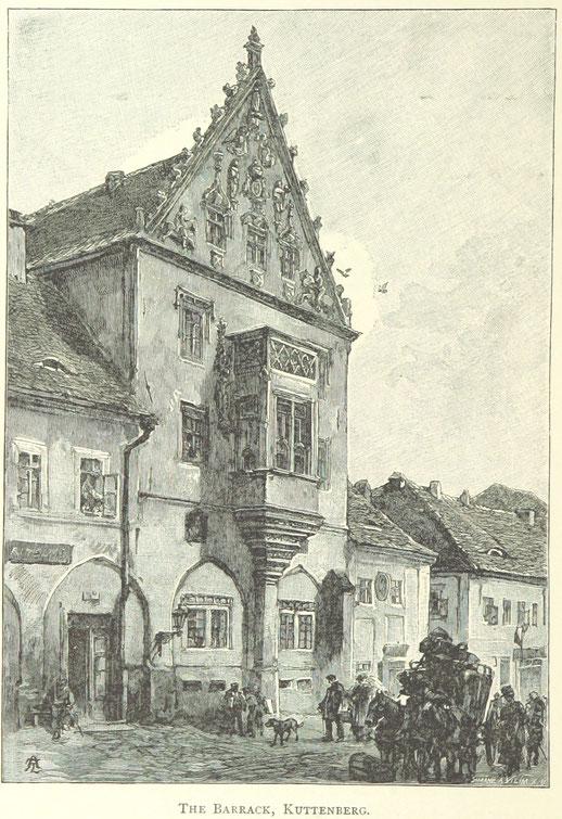 Historisches Gebäude in Kuttenberg, Böhmen