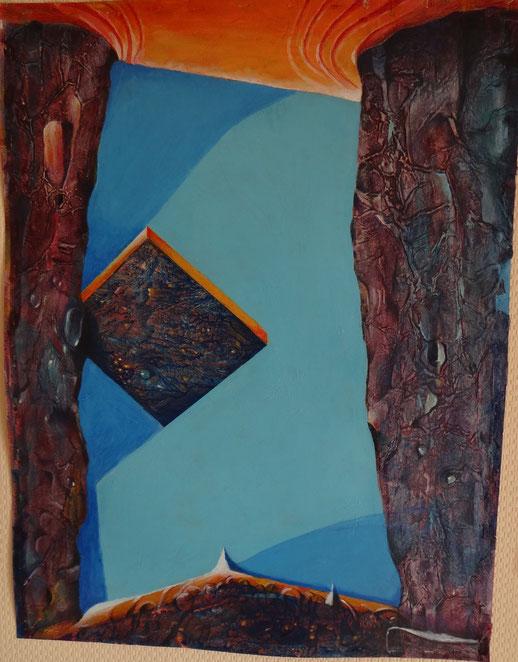 Himmlische Architektur   2015. 1.  Acryl  50 x 65  2v a