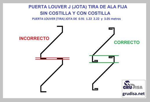 PUERTA LOUVER J (JOTA) INSTALACIÓN CORRECTA