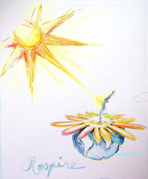 respire, soleil, terre, severine saint-maurice, lescerclesdelumiere.com