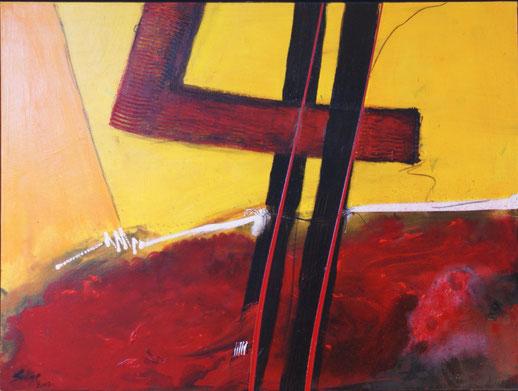 """""""Schrege Balken 1""""  60x80  Acryl auf Leinwand  2007"""