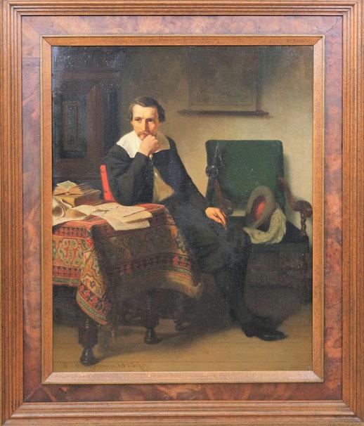 schilderij van lambertus lingeman (1829-1894)_genre schilderij van lambertus lingeman