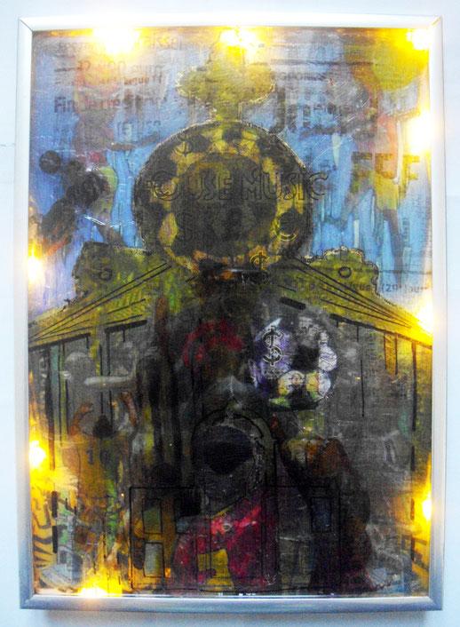 Techniques mixtes & transferts d'images sur verre, 21X29,5cm, 2015