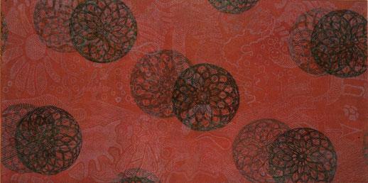 Karneval mit Muffins, 2010. (Farbradierung, 20 x 30 cm) (Privatbesitz)